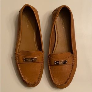 COACH Fredrica pebbled leather loafer- tan size 8